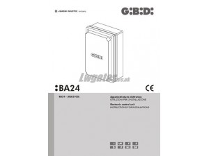 GiBiDi BA24 Installation Instructions