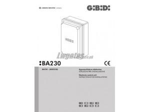 GiBiDi BA230 Installation Instructions