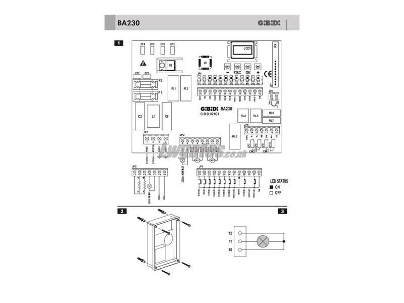 Gibidi Ba230 Installation Instructions Lw Systems