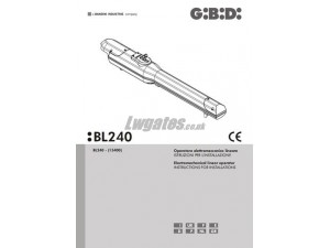 GiBiDi Meka BL240 Installation Instructions