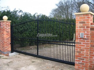 Steel Decorative cantilever gates