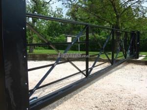 cantilever steel 5bar sliding gate