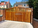 Hardwood Iroko sliding gate