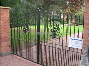 Wrought iron decorative gates