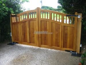 Hardwood Iroko Gate